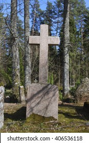 Old cross on the 19th - 20th century cemetery.