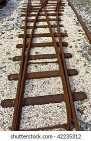Old crossection of rails found at a railway station