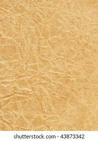 Old crumpled brown paper texture