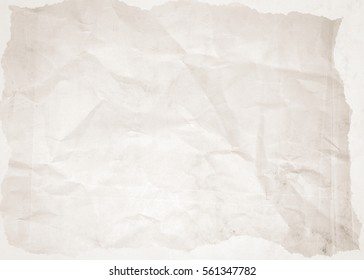 Old crumpled paper. Paper texture.