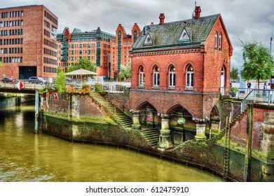 Old customs office building in Hamburg (Germany)