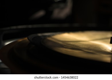 Old Cymbals . Drum Set. Cymbals close up.