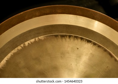Old Cymbals. Drum Set. Cymbals close up