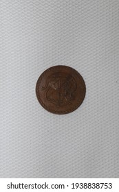 old cyprus coin on a white background