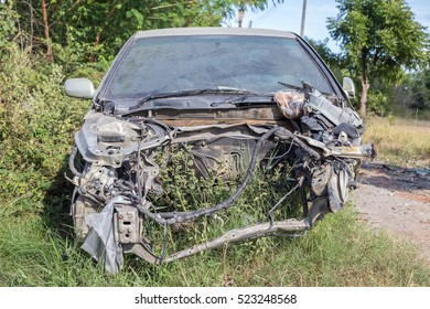 Similar Images, Stock Photos & Vectors of wrecked car