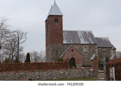 The old Danish church with two towers