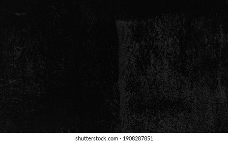 old dark black stucco wall texture background. old vintage and rustic concept background. black banner with concrete wall surface texture.