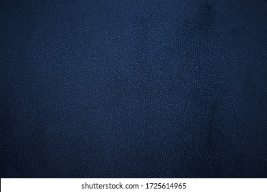 Old dark blue faux leather. Background. Texture. - Shutterstock ID 1725614965