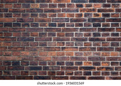 Old dark brick wall texture for pattern background
