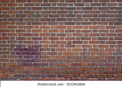 Old Dark, Brown Tone Brick Wall Texture. Strong Brickwork Seamless. Shabby Building Façade. Perfect Stonework Backdrop.