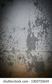 old dark concrete wall horror halloween background, abstract dirty aged grunge rough cement texture