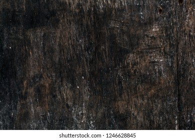 Old dark empty wooden billboard texture background