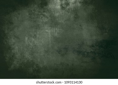 old dark green grungy canvas background or texture