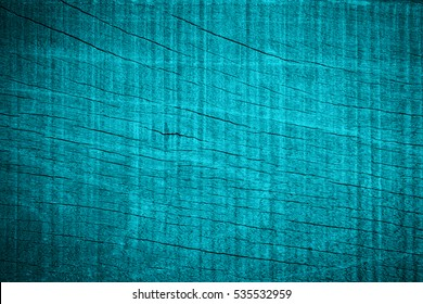 Old dark grunge wood teal colors texture background concept for cool chic wooden cyan bacground, blue hipster table top view, back turquoise marble fence,