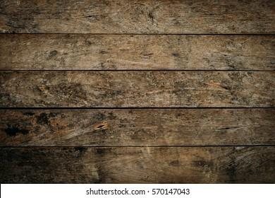 Old dark wood abstract  texture plank wallpaper.