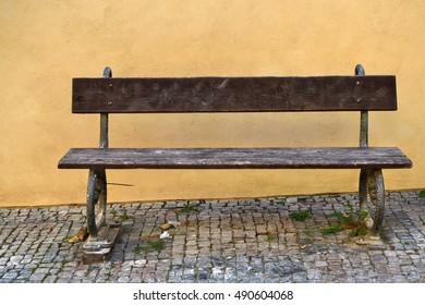 Old dark wood Bench