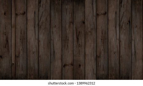 Old dark wooden background (wood panel)