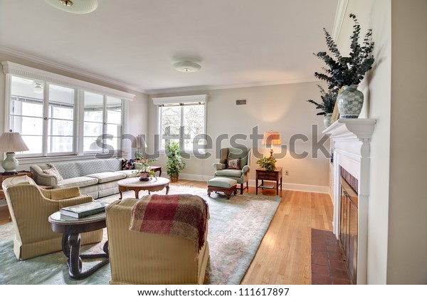 Old Dated Home Interior Old Furniture Stock Photo (Edit Now) 111617897
