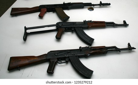 Old deactivated assault rifles