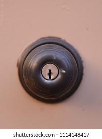 Old deadbolt lock