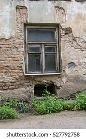Old decay building facade