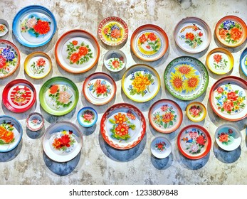 old decorative trays