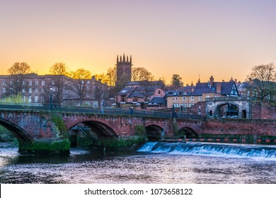 Old Dee bridge in Chester, England