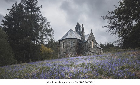 An old derelict chapel in the Elan Valley, Wales