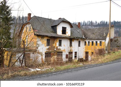 Old derelict guest house - Vitkovsko in Moravia in the Czech Republic in the center of Europe.