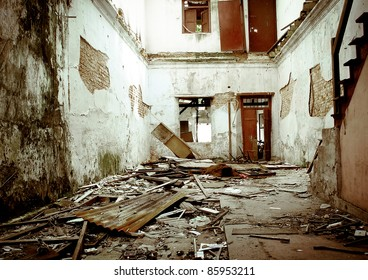 old derelict house