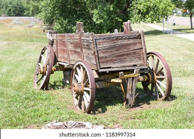 An old derelict wooden cart