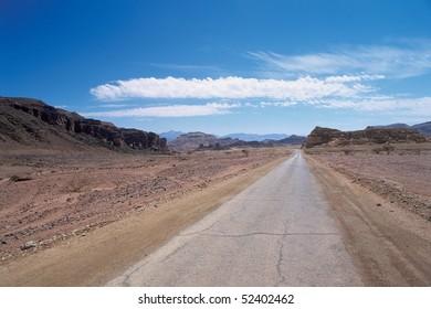 Old desert Road,Israel