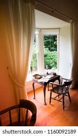 Old desk with relaxed views of the garden