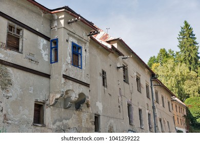 Old desolated residential house in Banska Stiavnica, Slovakia