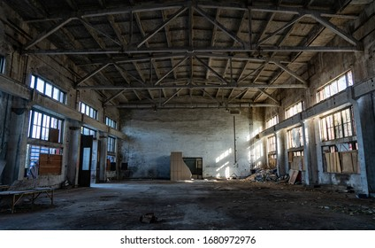 An old destroy abandoned factory