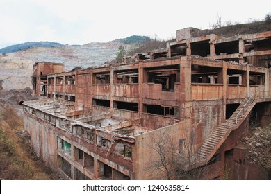 Old destroyed ironworks near Sarajevo , Bosnia and Herzegovina