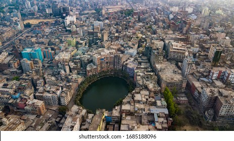 Old Dhaka, Dhaka/Bangladesh - 3/23/2018: Old Dhaka is known for old architectural sites, district courts, river port, wholesale commercial shops and dense population.