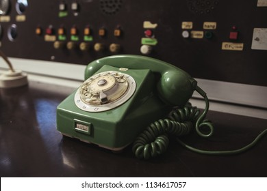 Old dial telephone