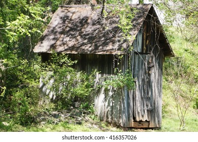 Old dilapidated shed