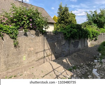 old dilapidated wall