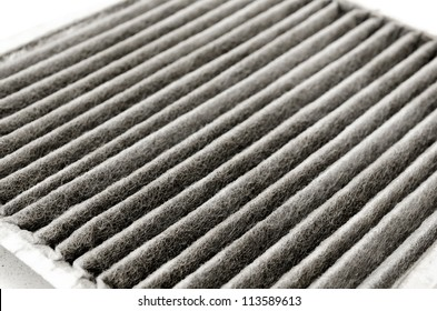 an old dirty air filter for cars