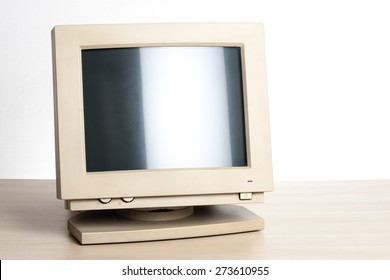 old and dirty CRT computer monitor.