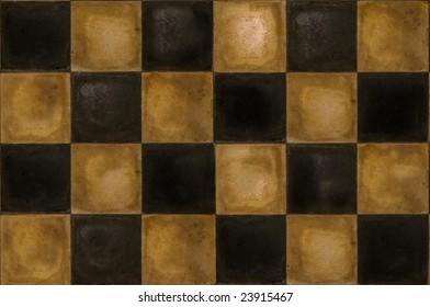 Old dirty retro tile floor, seamless