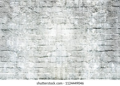 Old dirty white brick wall for texture or background.