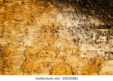 Old dirty wooden board background. Close up, grain and texture.