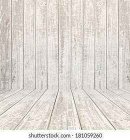 Old distressed wooden room background