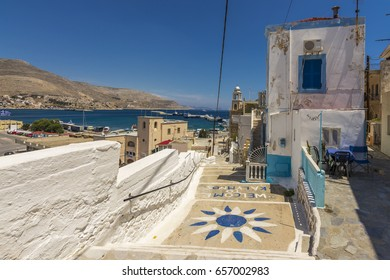 Old district street view in Kalymnos Island