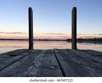 Old dock by the lake