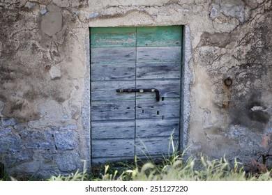 old door of an ancient farm