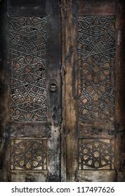 Old door of Beyazit Mosque in Istanbul,Turkey.